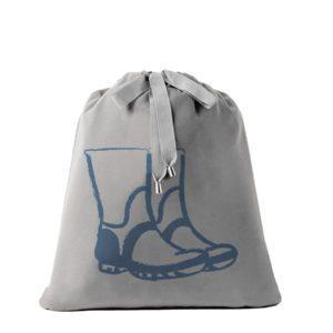 Sacca botas de lluvia azul